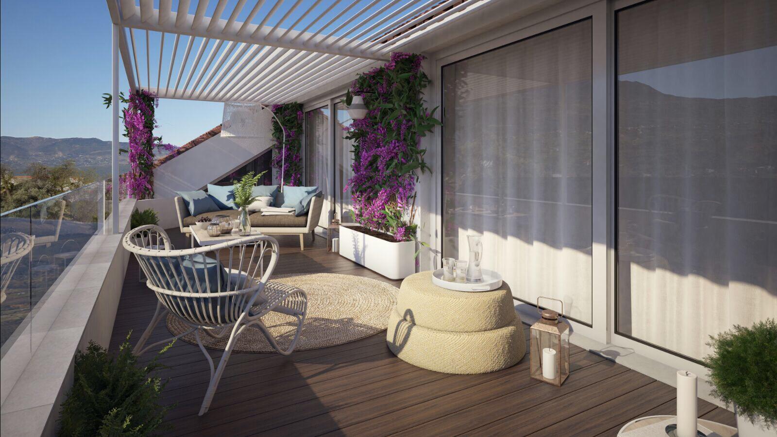 Reforma y dise o de terraza de un tico en baza cocobolo interiorismo - Diseno de terraza ...